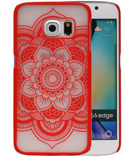 Hoesje voor Samsung Galaxy S6 edge - Roma Hardcase Rood