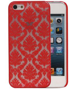 Hoesje voor Apple iPhone 5/5S - Brocant Hardcase Rood