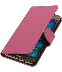 Hoesje voor Samsung Galaxy On5 - Effen Roze Booktype Wallet