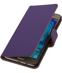 Hoesje voor Samsung Galaxy On5 - Effen Paars Booktype Wallet