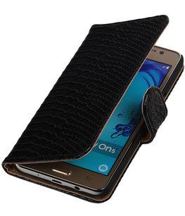 Hoesje voor Samsung Galaxy On5 - Slang Zwart Booktype Wallet