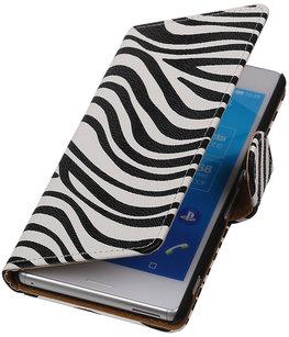 Zebra Booktype Hoesje voor Sony Xperia E C1605 Wallet Cover