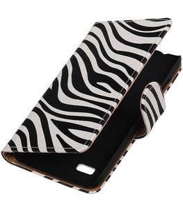 Zebra Booktype Hoesje voor Samsung Galaxy Young 2 G130 Wallet Cover