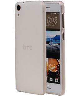 Hoesje voor HTC Desire 728 TPU Transparant Wit