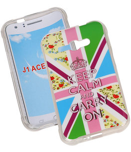 Keizerskroon TPU Cover Case voor Hoesje voor Samsung Galaxy J1 Ace