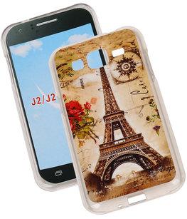 Eiffeltoren TPU Cover Case voor Hoesje voor Samsung Galaxy J2 2015