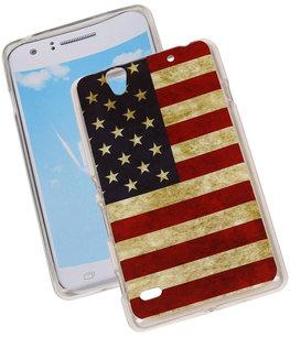 Amerikaanse Vlag TPU Cover Case voor Hoesje voor Sony Xperia C4