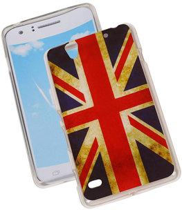 Britse Vlag TPU Cover Case voor Hoesje voor Sony Xperia C4