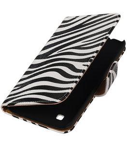 Zebra booktype cover voor Hoesje voor LG K7