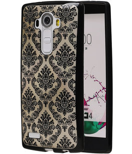 Zwart Brocant TPU back case cover voor Hoesje voor LG G4