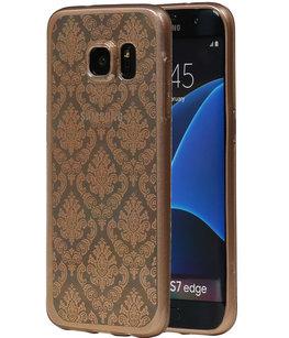 Goud Brocant TPU back case cover voor Hoesje voor Samsung Galaxy S7 Edge