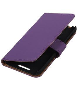 Paars Effen Hoesje voor HTC Desire 510 s Book/Wallet Case/Cover