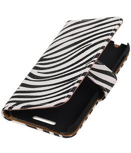 Zebra Hoesje voor HTC Desire 510 Book/Wallet Case/Cover