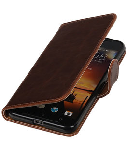 Mocca Pull-Up PU booktype wallet cover voor Hoesje voor HTC One X9