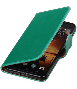 Groen Pull-Up PU booktype wallet cover voor Hoesje voor HTC One X9
