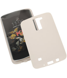 Hoesje voor LG K8 TPU Back Cover Transparant Wit
