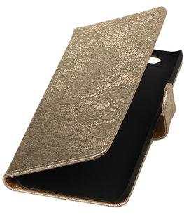 Hoesje voor Huawei Nexus 6P - Lace Goud Booktype Wallet