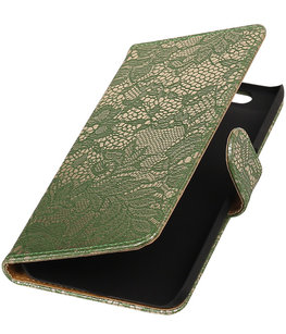 Hoesje voor Huawei Nexus 6P - Lace Donker Groen Booktype Wallet