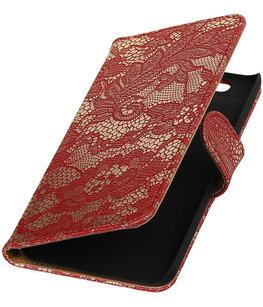 Hoesje voor Huawei Nexus 6P - Lace Rood Booktype Wallet
