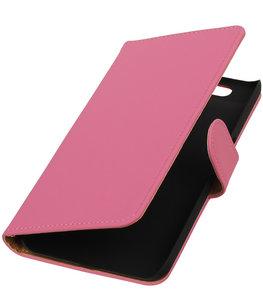 Hoesje voor Huawei Nexus 6P - Effen Roze Booktype Wallet