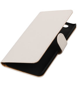 Hoesje voor Huawei Nexus 6P - Effen Wit Booktype Wallet