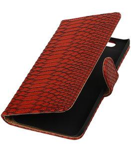 Huawei Nexus 6P - Slang Rood Bookstyle Wallet Hoesje