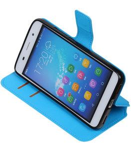 Blauw Hoesje voor Huawei Honor Y6 / 4A TPU wallet case booktype HM Book