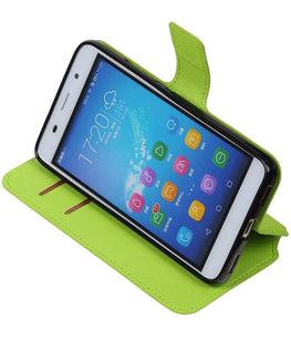 Groen Hoesje voor Huawei Honor Y6 / 4A TPU wallet case booktype HM Book