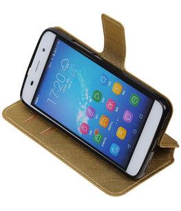 Goud Hoesje voor Huawei Honor Y6 / 4A TPU wallet case booktype HM Book