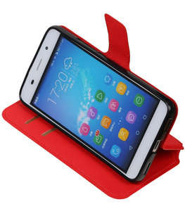 Rood Hoesje voor Huawei Honor Y6 / 4A TPU wallet case booktype HM Book