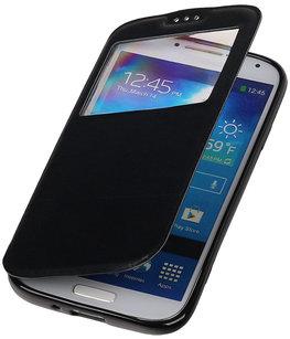 Polar View Map Case Zwart Hoesje voor Samsung Galaxy S3 I9300 TPU Bookcover