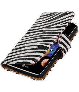Zebra booktype cover voor Hoesje voor LG K4