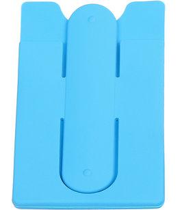 Licht Blauw TPU pashouder / kaarthouder met stand functie