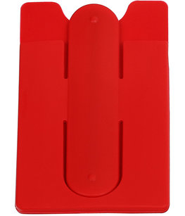 Rood TPU pashouder / kaarthouder met stand functie