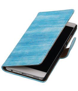 Turquoise Mini Slang booktype wallet cover voor Hoesje voor Huawei P9 Plus