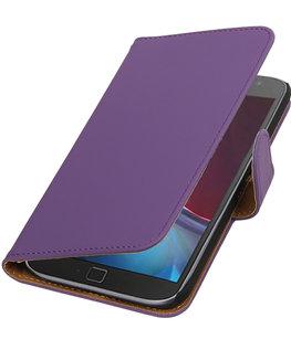 Paars Effen booktype wallet cover voor Hoesje voor Motorola Moto G4 / G4 Plus