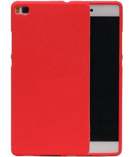 Rood Zand TPU back case cover voor Hoesje voor Huawei P8