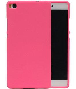 Roze Zand TPU back case cover voor Hoesje voor Huawei P8