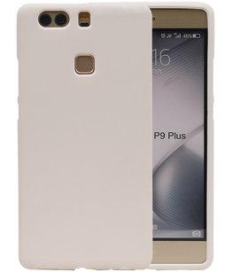 Wit Zand TPU back case cover voor Hoesje voor Huawei P9 Plus