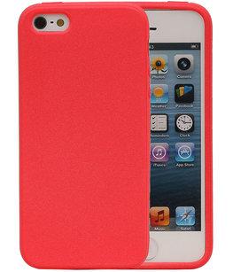 Rood Zand TPU back case cover voor Hoesje voor Apple iPhone 5 / 5s / SE