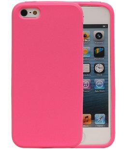 Roze Zand TPU back case cover voor Hoesje voor Apple iPhone 5 / 5s / SE