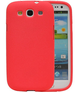 Rood Zand TPU back case cover voor Hoesje voor Samsung Galaxy S3 I9300