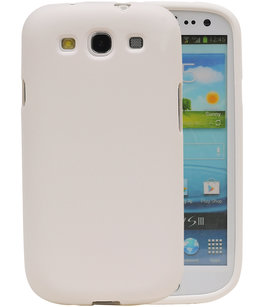 Wit Zand TPU back case cover voor Hoesje voor Samsung Galaxy S3 I9300
