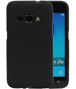 Zwart Zand TPU back case cover voor Hoesje voor Samsung Galaxy J1 2016