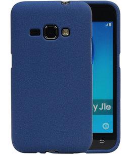 Blauw Zand TPU back case cover voor Hoesje voor Samsung Galaxy J1 2016