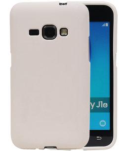 Wit Zand TPU back case cover voor Hoesje voor Samsung Galaxy J1 2016