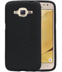 Zwart Zand TPU back case cover voor Hoesje voor Samsung Galaxy J2 2016