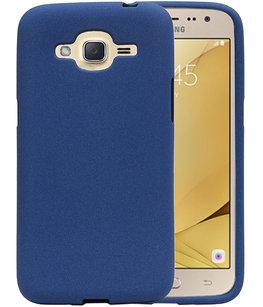 Blauw Zand TPU back case cover voor Hoesje voor Samsung Galaxy J2 2016