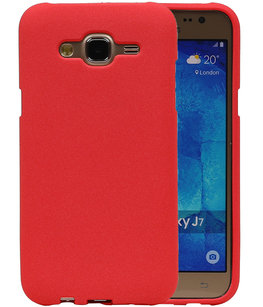 Rood Zand TPU back case cover voor Hoesje voor Samsung Galaxy J7 2015