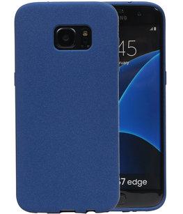 Blauw Zand TPU back case cover voor Hoesje voor Samsung Galaxy S7 Edge